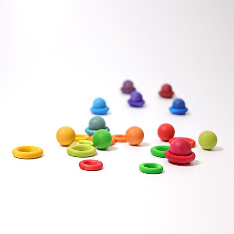 Kleine ballen regenboogkleuren, Grimm's