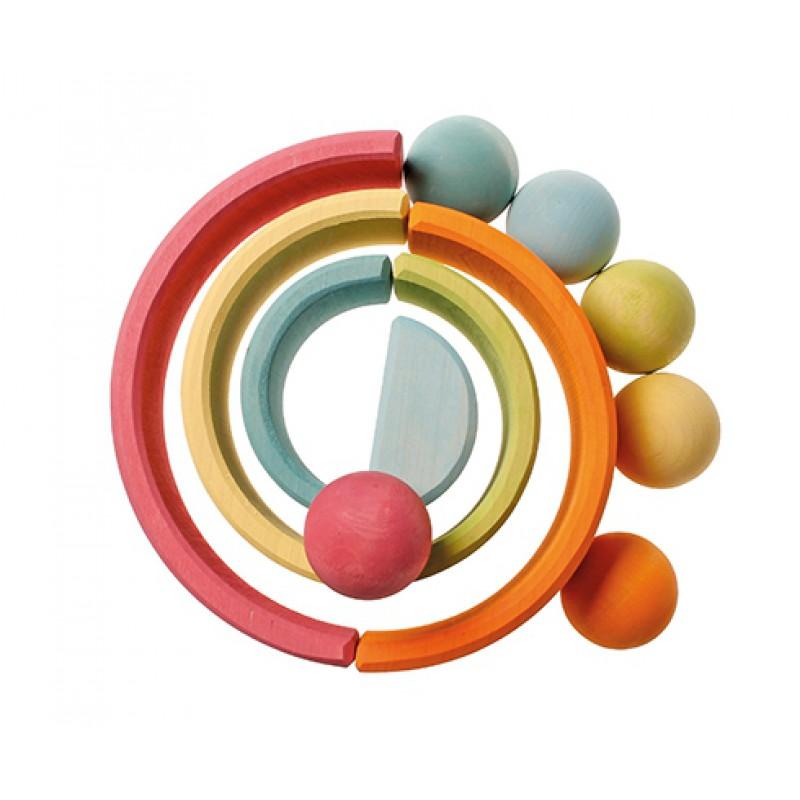 6 Houten ballen pastel, Grimm's
