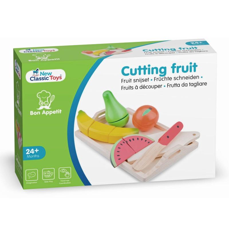 Houten snijset fruit