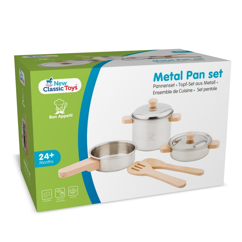Pannenset metaal, New Classic Toys