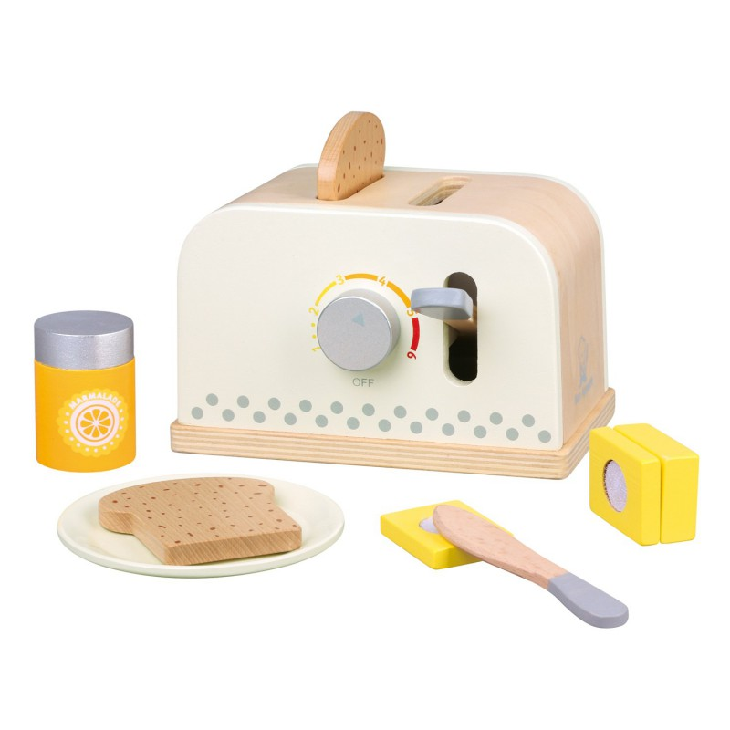 Houten broodrooster set, New Classic Toys