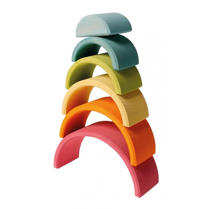 Regenboog 6-delig pastel, Grimm's
