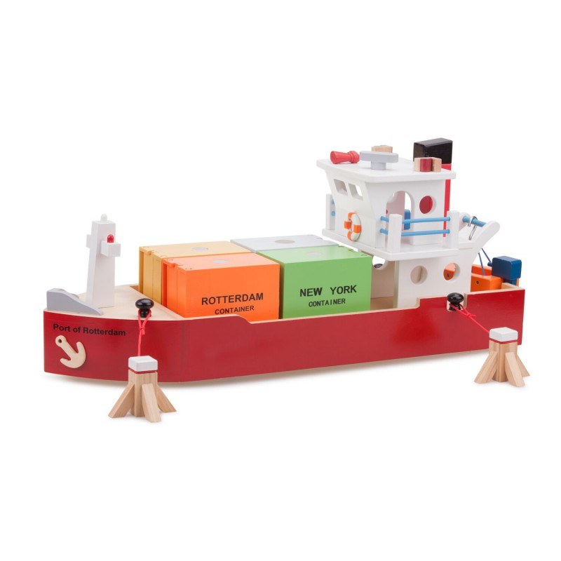 Groot houten containerschip, New Classic Toys
