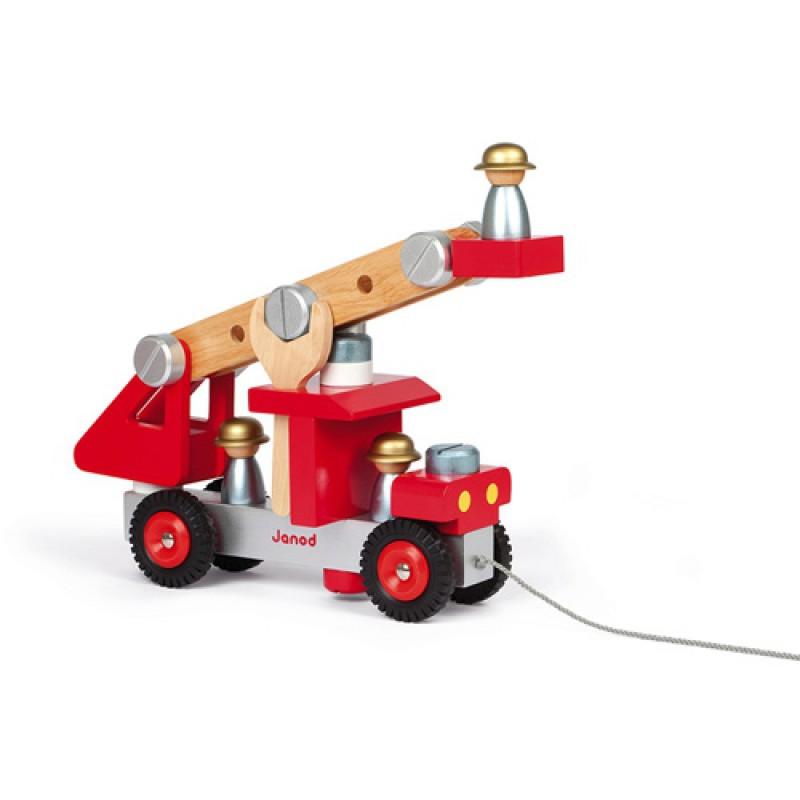 Brandweerauto met gereedschap, Janod