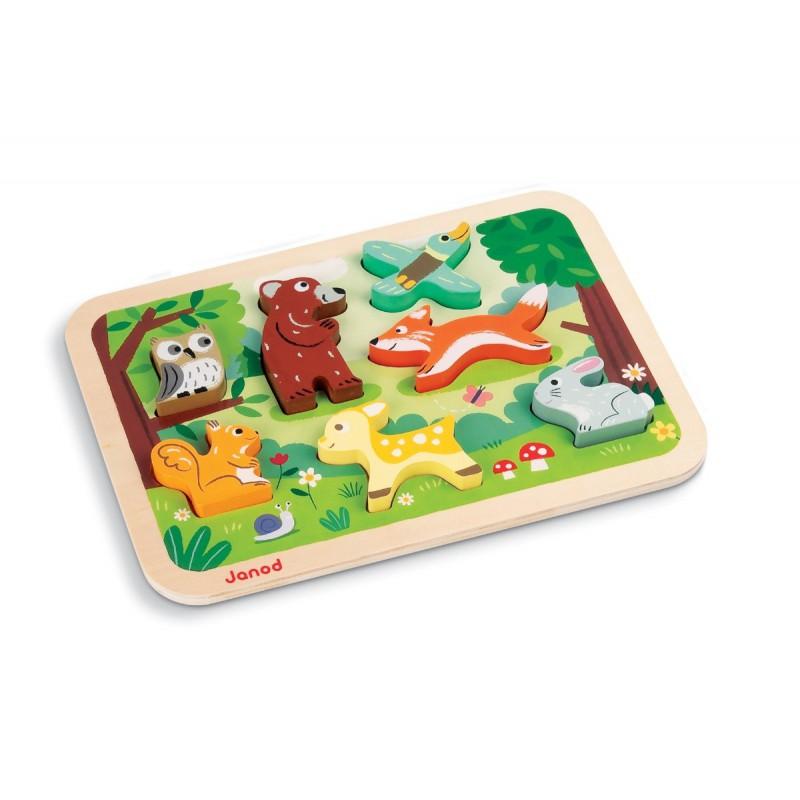 Chunky puzzel bosdieren, Janod