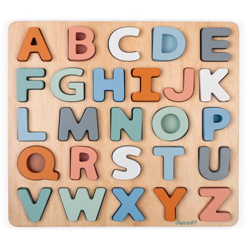 Alfabet puzzel, Janod Sweet Cocoon