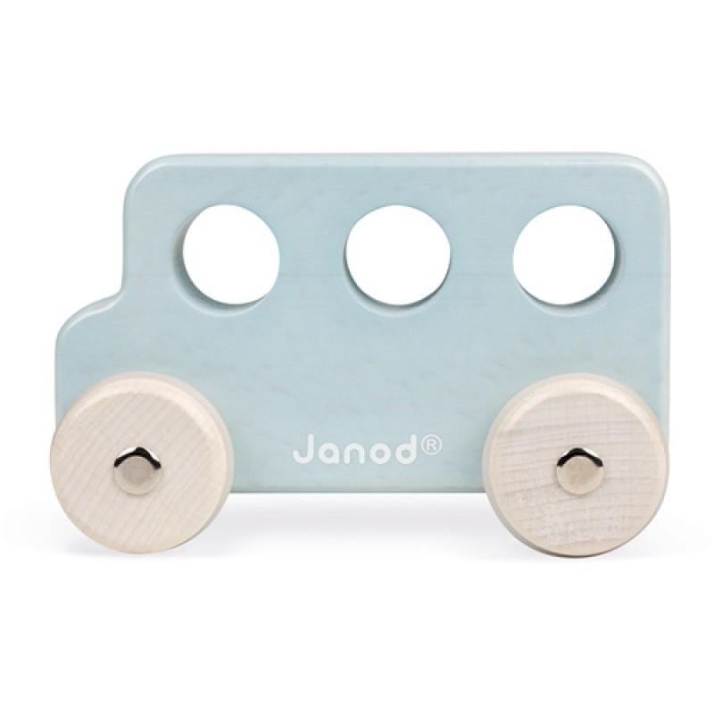 Houten bus blauw, Janod Sweet Cocoon