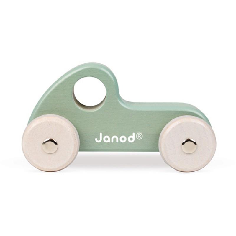 Houten raceauto groen, Janod Sweet Cocoon