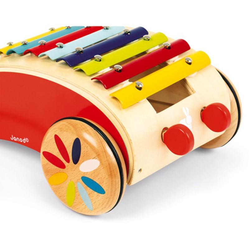 Tatoo trekwagen xylofoon, Janod