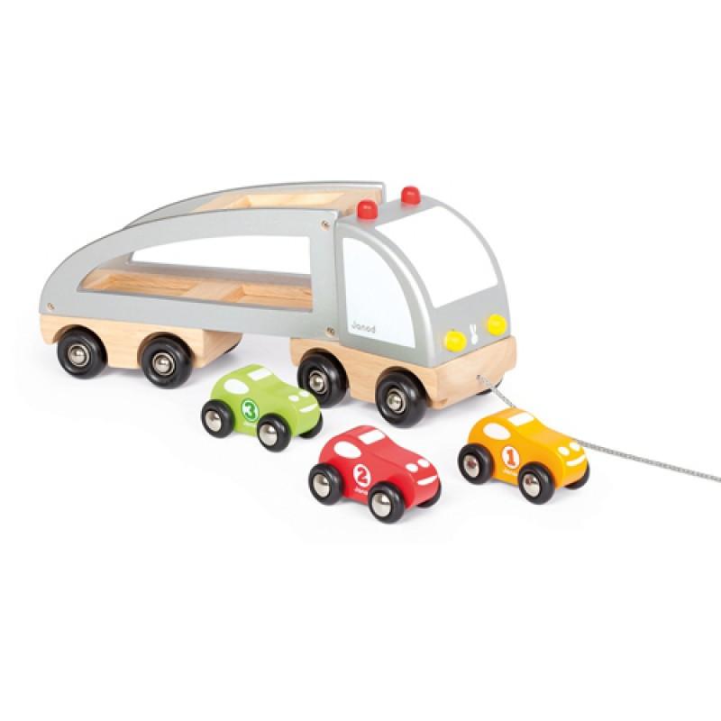 Vrachtwagen met 3 auto's, JanodVrachtwagen met 3 auto's, Janod