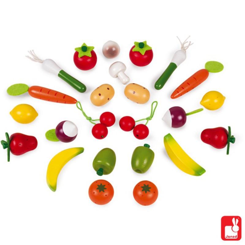 Mandje groente en fruit, Janod