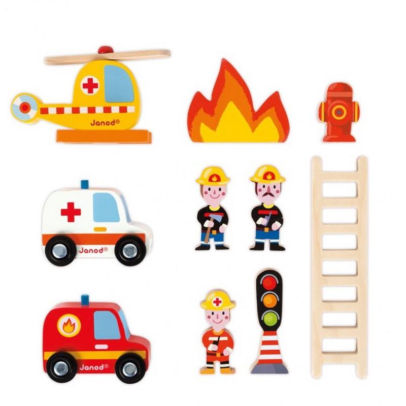 Brandweerkazerne met lift, Janod