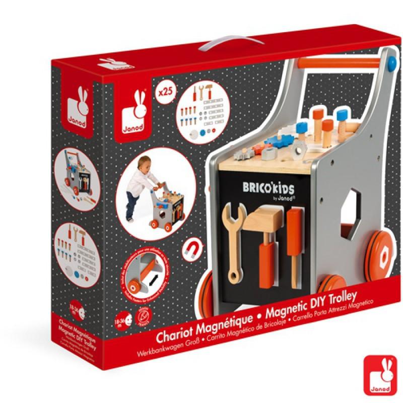 Magnetische gereedschapstrolley Brico'Kids, Janod