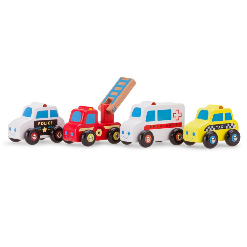 11930 Houten auto's hulpdiensten, New Classic Toys
