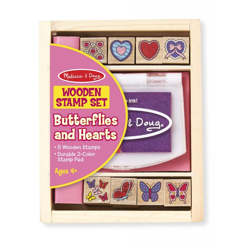 Stempelset Vlinders en Hartjes, Melissa & Doug