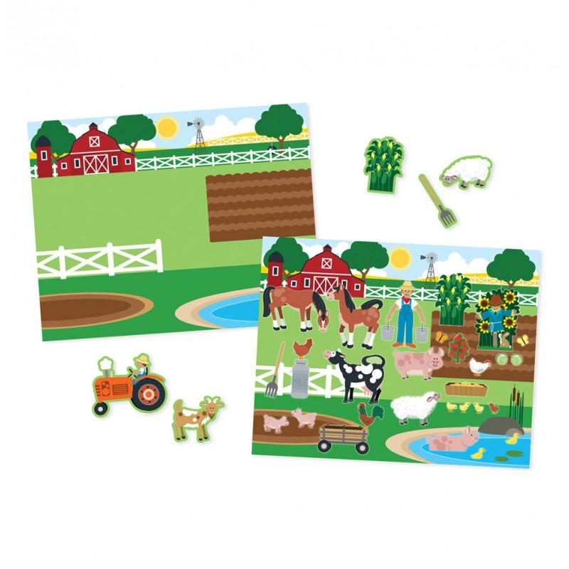 Herbruikbaar stickerblok Habitats, Melissa & Doug