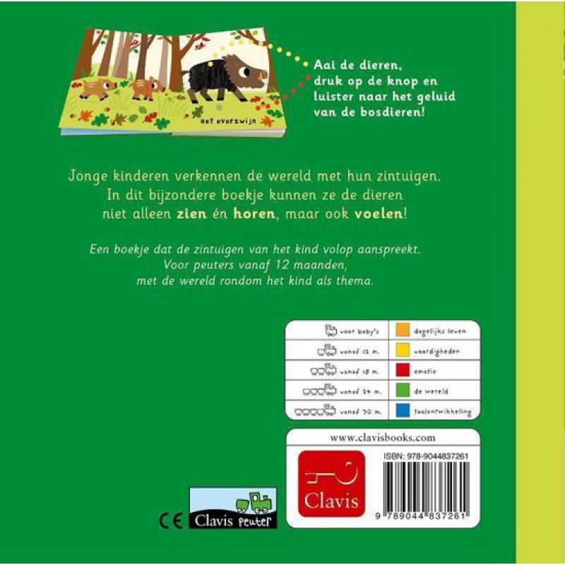Bosdieren, voel- en geluidenboek