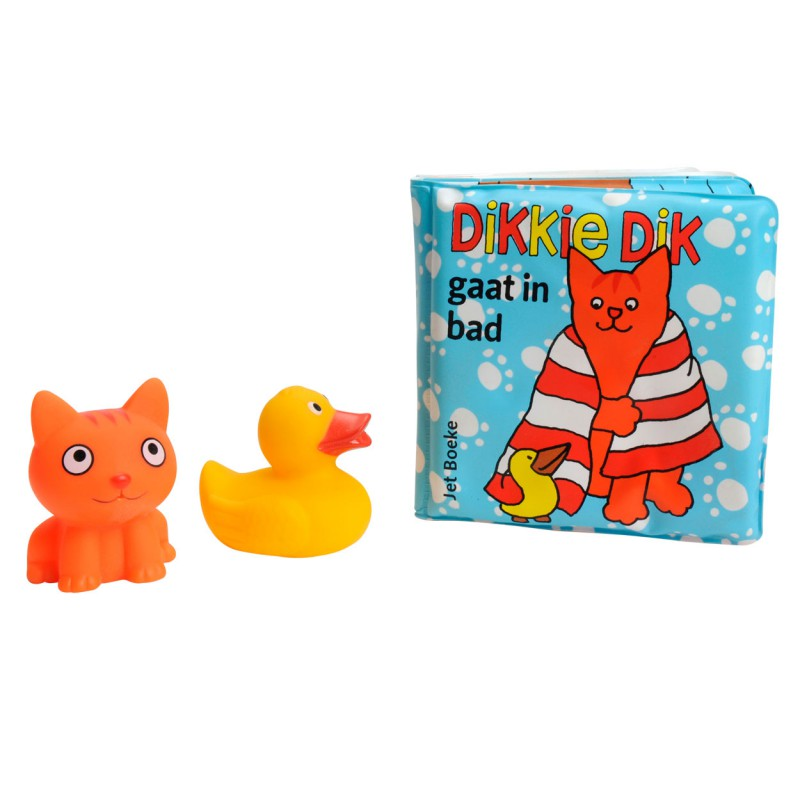 Dikkie Dik gaat in bad, badboekje met 2 waterspuiters
