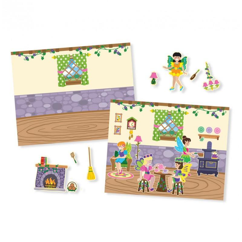 Herbruikbaar stickerblok Elfjes, Melissa & Doug