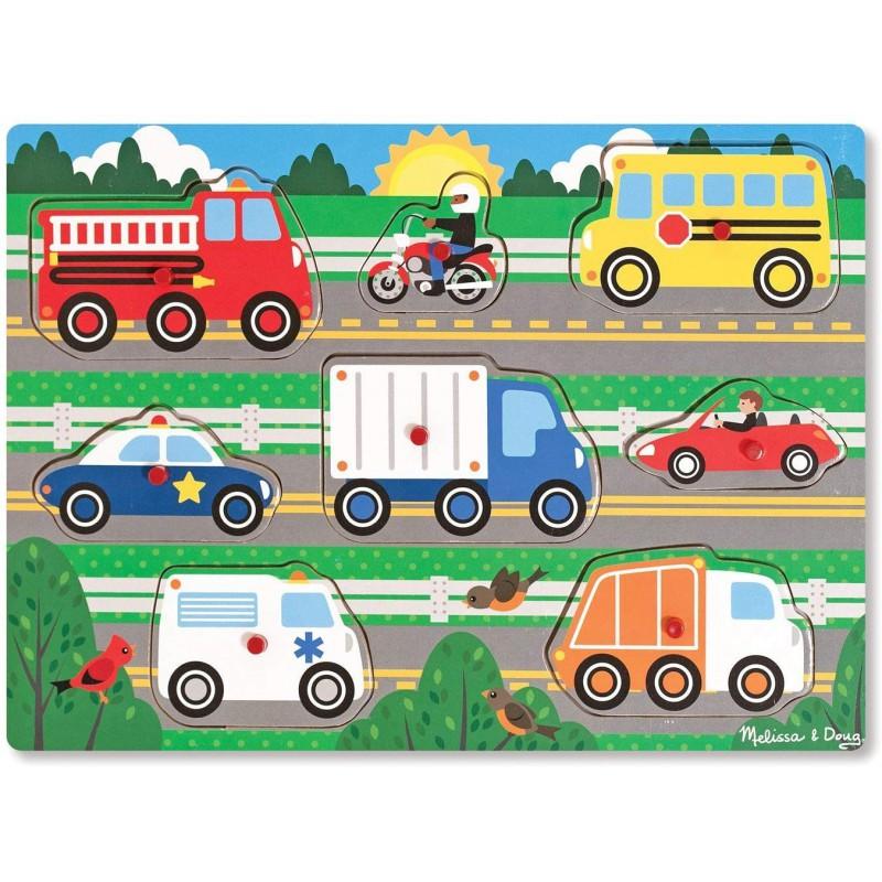 Knoppuzzel voertuigen, Melissa & Doug
