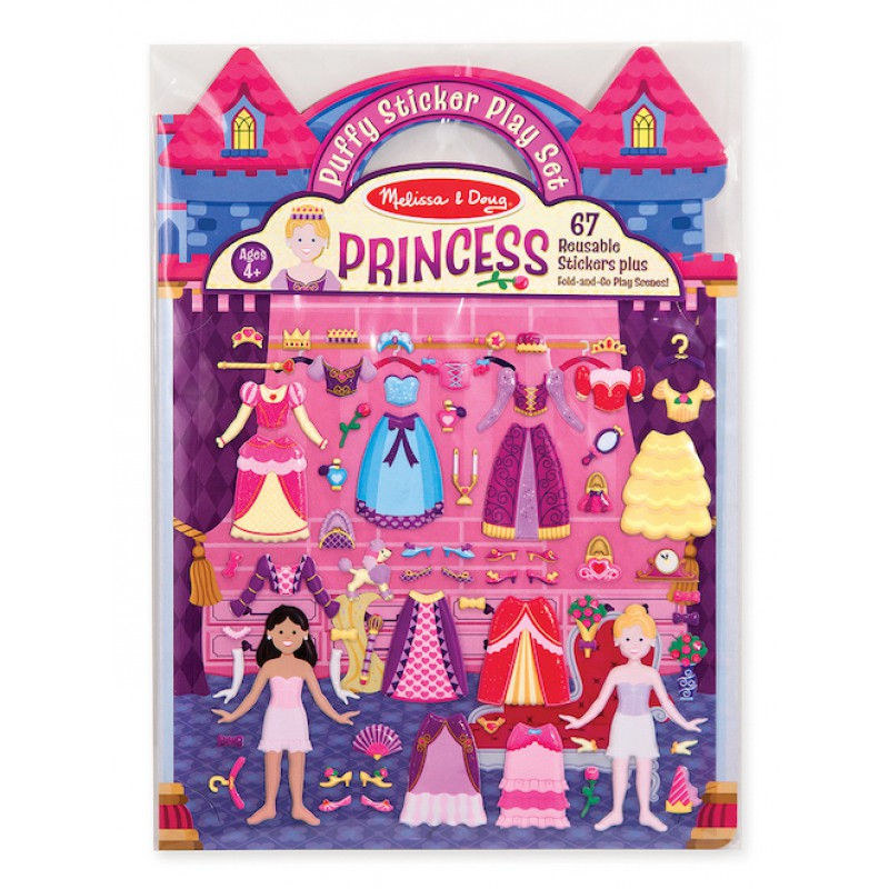 Puffy stickers set Prinsessen, Melissa & Doug