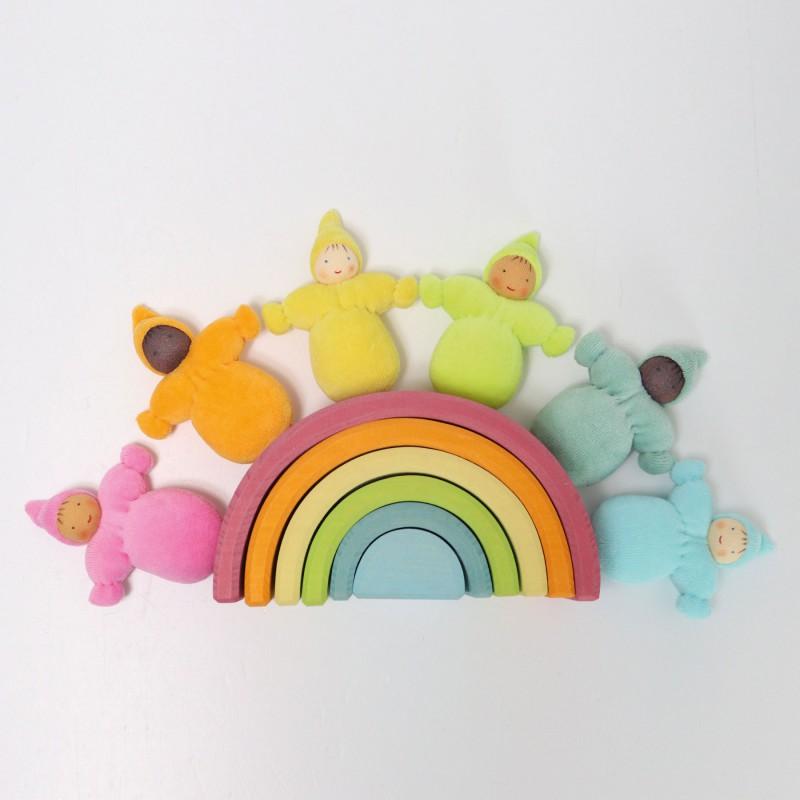 Regenboogdwergen pastel, Grimm's