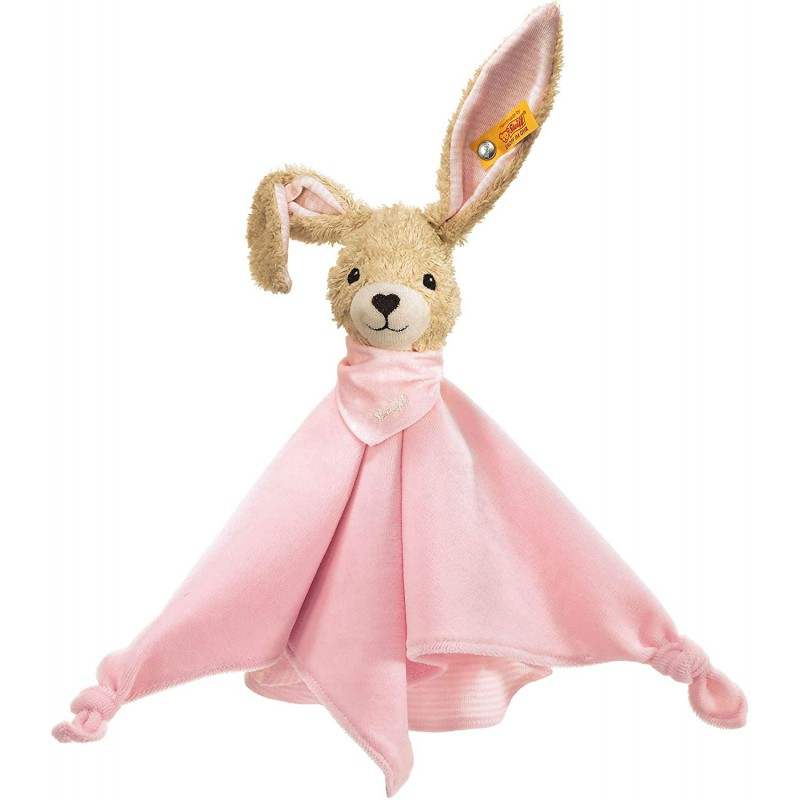 Knuffeldoekje konijn Hoppel roze, Steiff