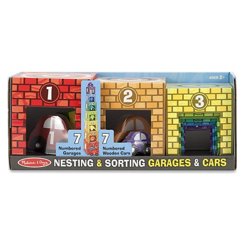 Stapeltoren garage met auto's, Melissa & Doug