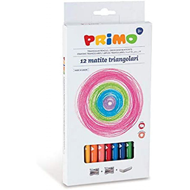 12 Driehoekige jumbo kleurpotloden, Primo