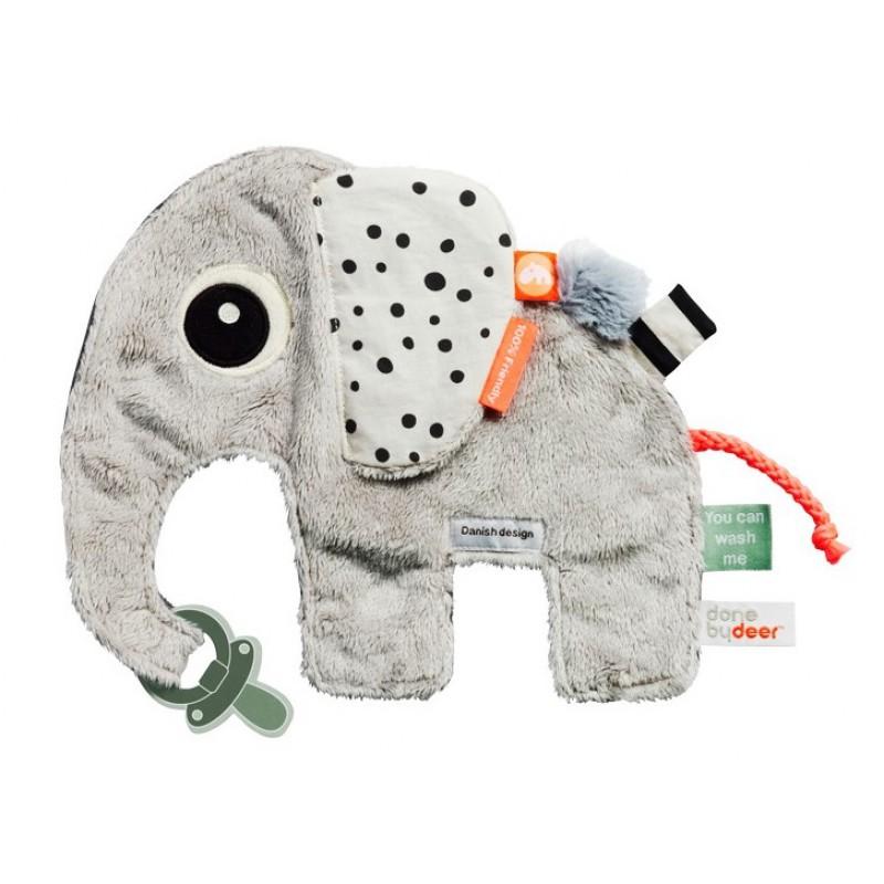 Knuffeldoekje olifant Elphee, Done by Deer
