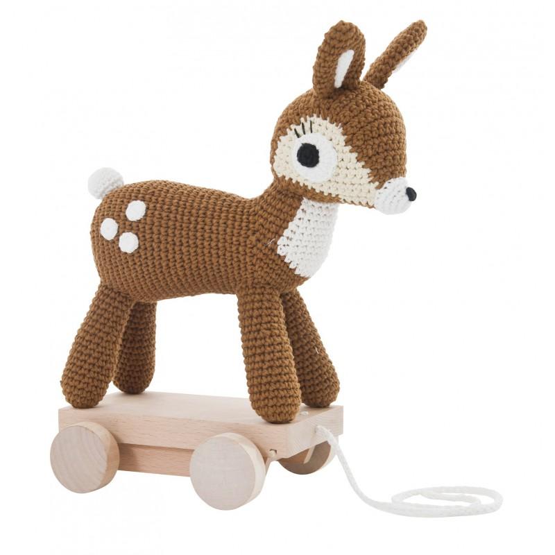 Gehaakte bambi op wieltjes, Sebra