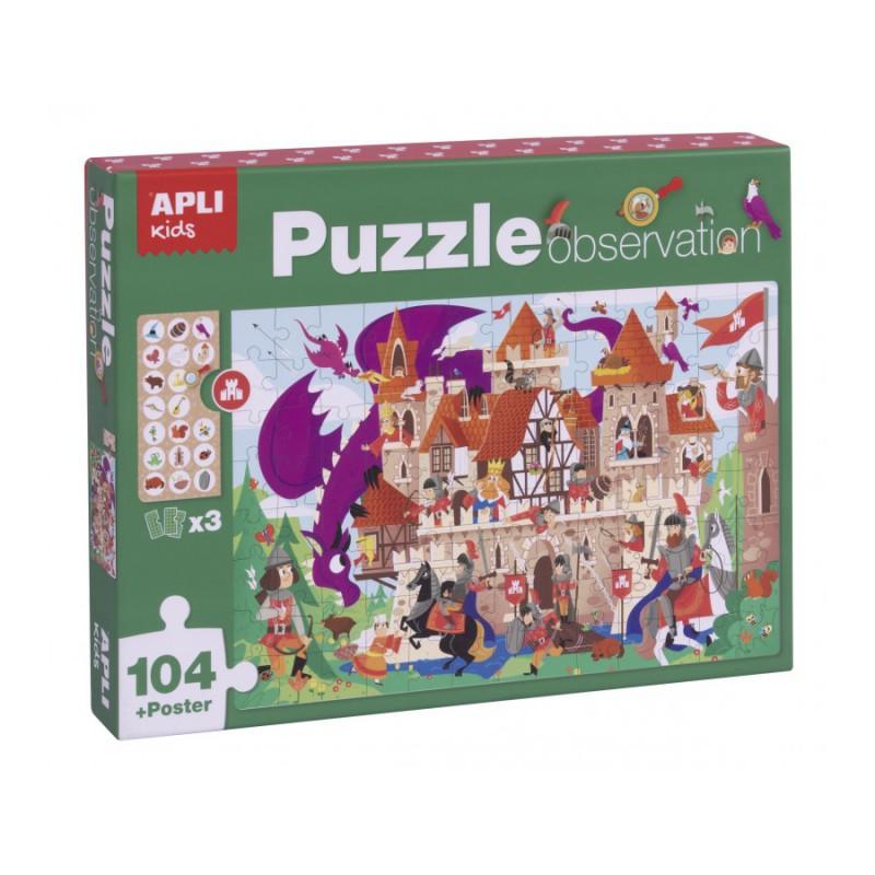 Zoek & vind puzzel Drakenkasteel 104 st, Apli