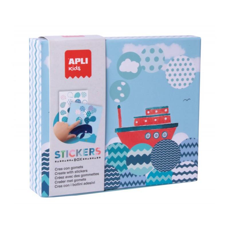 Stickerbox blauw, Apli