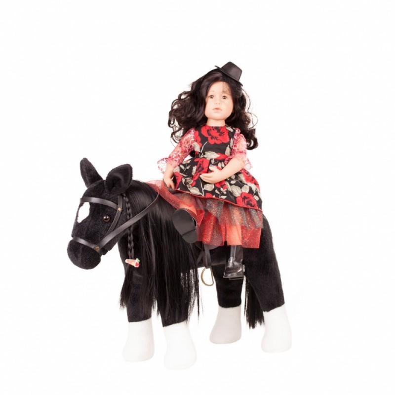 Groot paard met stylinghaar zwart, Goetz