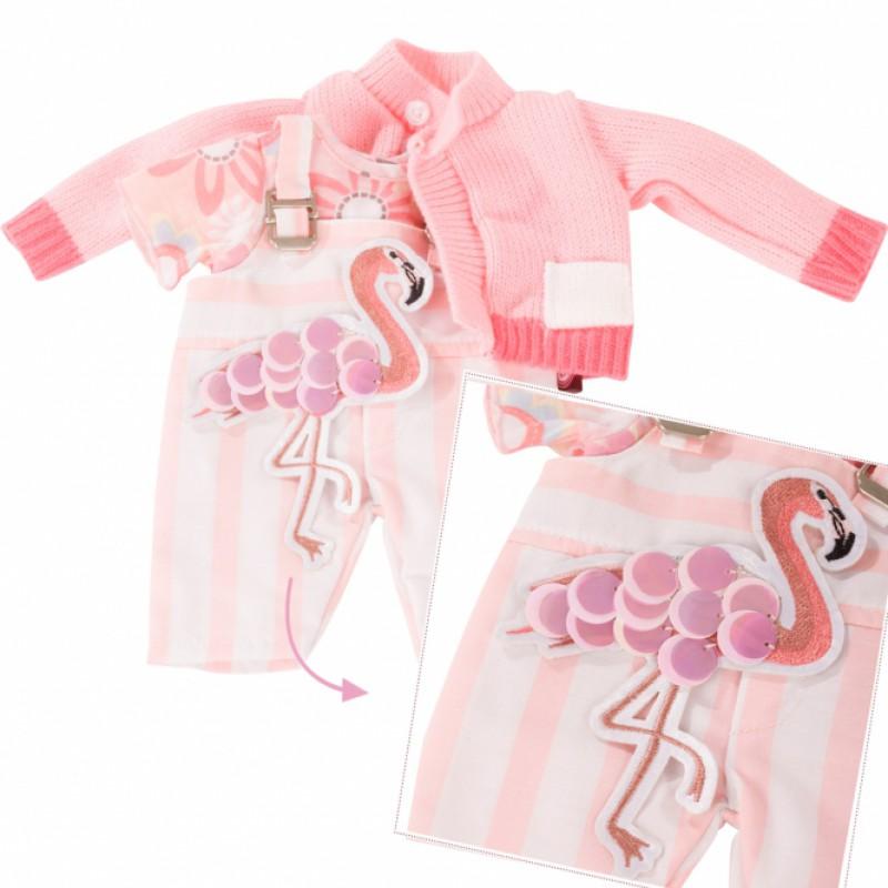 Kledingset Pretty Flamingo, babypop S, Goetz
