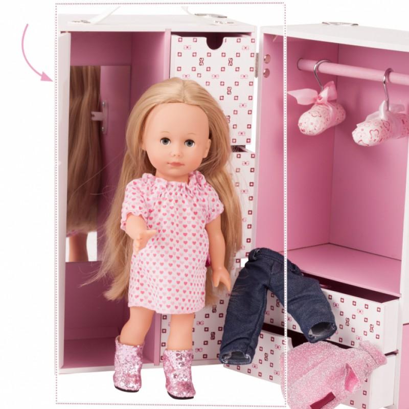 Kledingkast Karl voor poppenkleding, Goetz