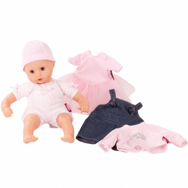 Kledingkast met babypop en kledingset, Goetz