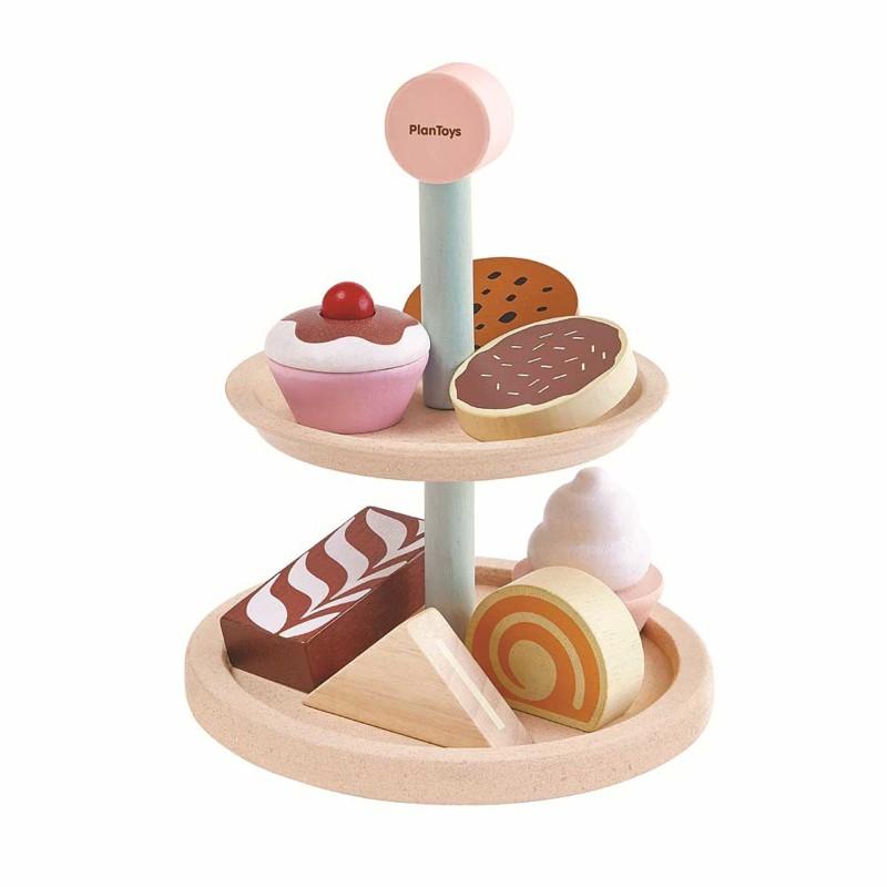 Etagère met gebakjes, Plan Toys