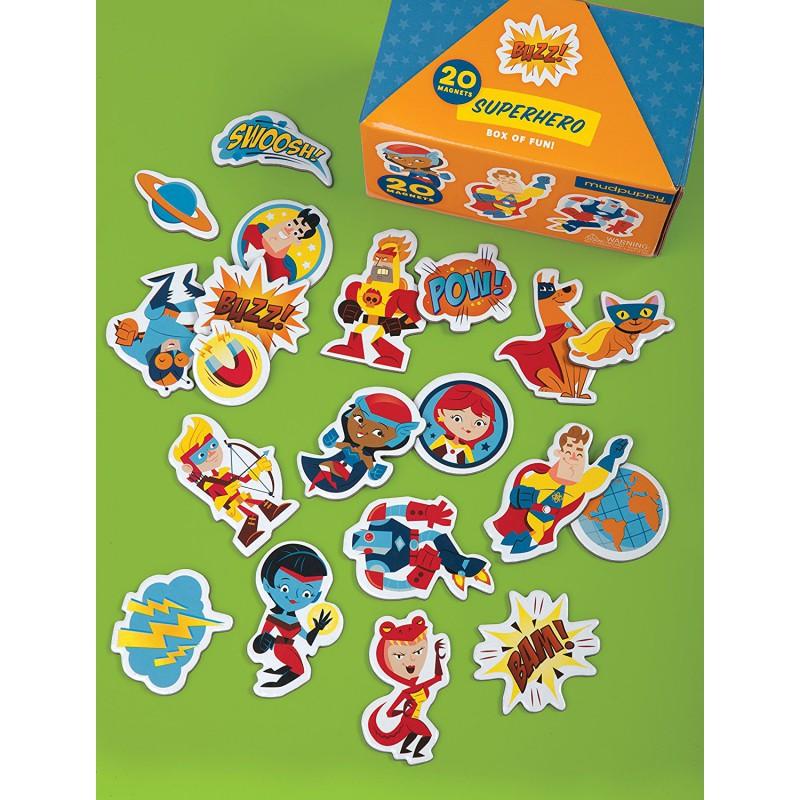 20 Magneten Superhelden, Mudpuppy