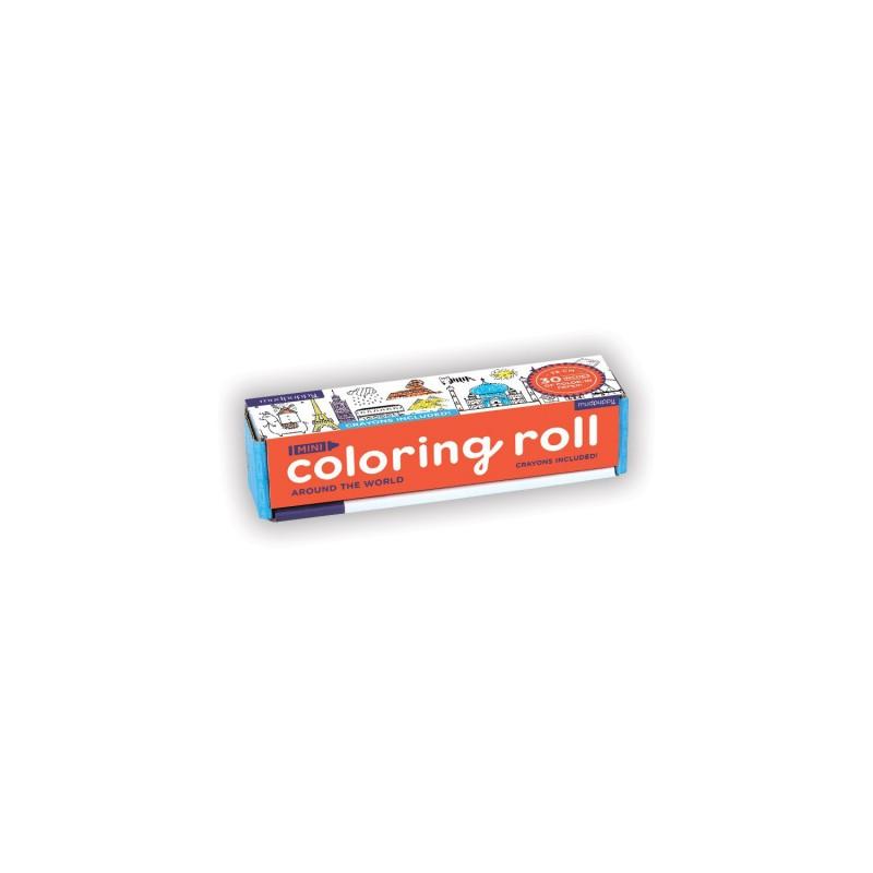 Mini Coloring Roll Around the World, Mudpuppy