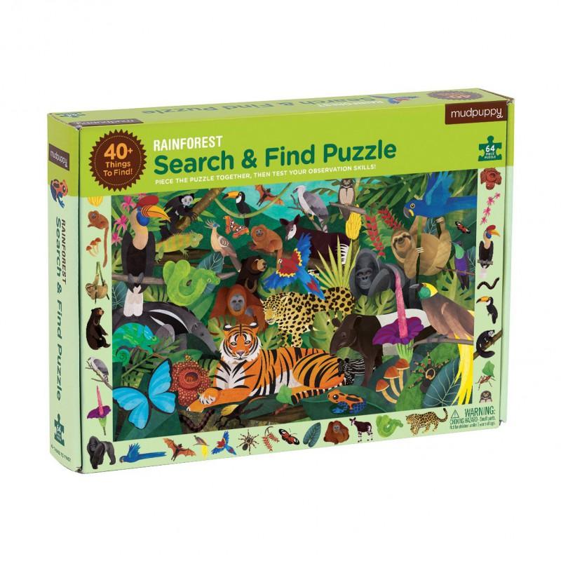 Zoek & vind puzzel Regenwoud, Mudpuppy