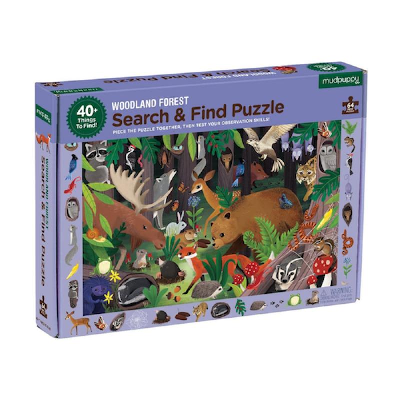 Zoek & vind puzzel Woodland Forest, Mudpuppy