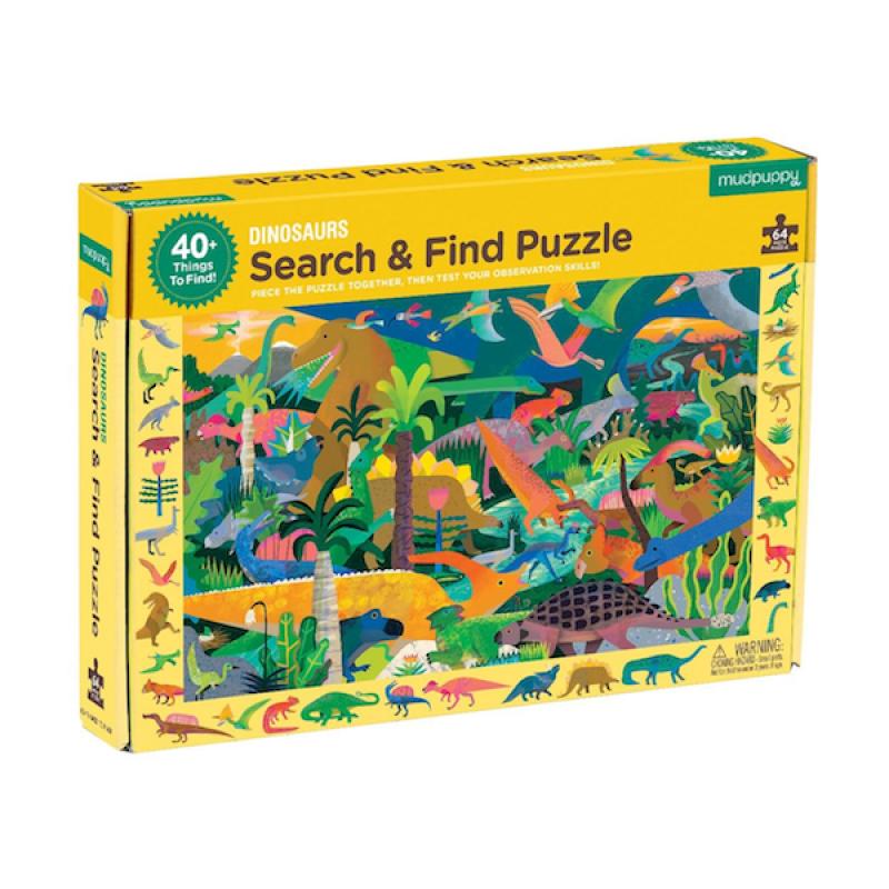 Zoek & vind puzzel Dinosaurs, Mudpuppy