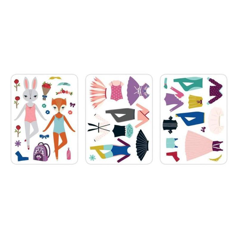 Woodland Ballet magnetische verkleedpoppen, Mudpuppy