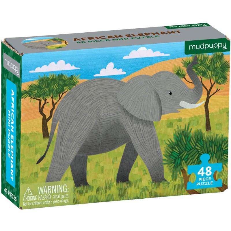 Mini puzzel Afrikaanse Olifant, Mudpuppy