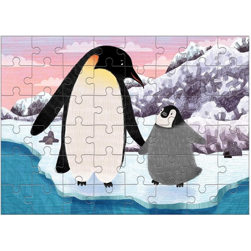 Mini puzzel Keizerspinguin, Mudpuppy