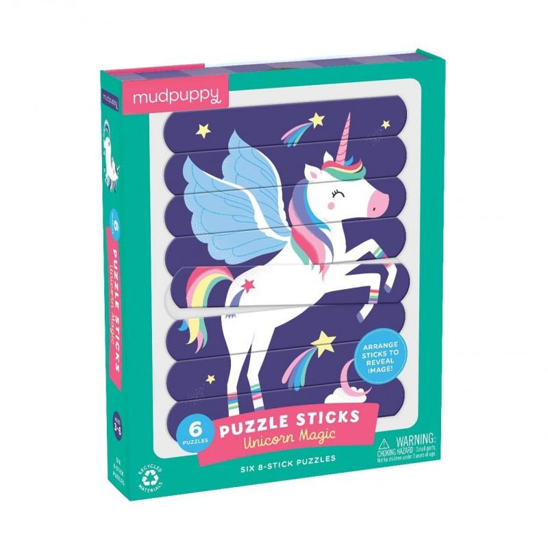 Puzzel sticks Unicorn Magic, Mudpuppy