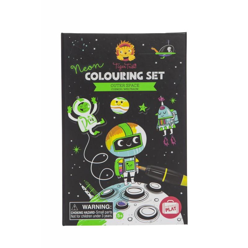 Neon kleur- en stickerset Outer Space, Tiger Tribe