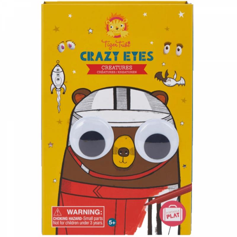 Kleur- en stickerset Crazy Eyes, Tiger Tribe