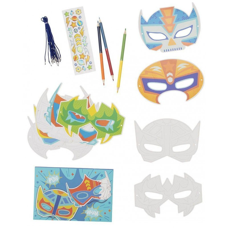 Papieren maskers Action Pack, Tiger Tribe